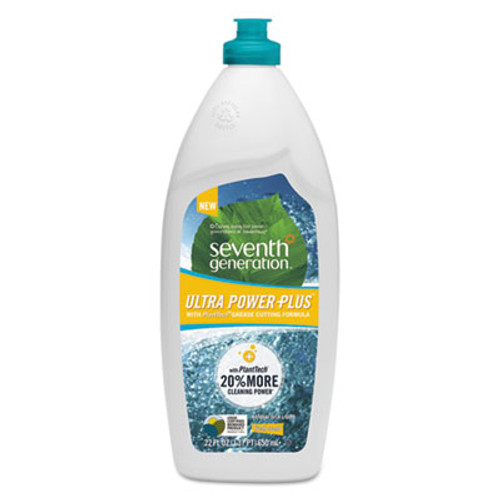 Seventh Generation Natural Dishwashing Liquid, Ultra Power Plus, Fresh Citrus, 22 oz Bottle (SEV22928)
