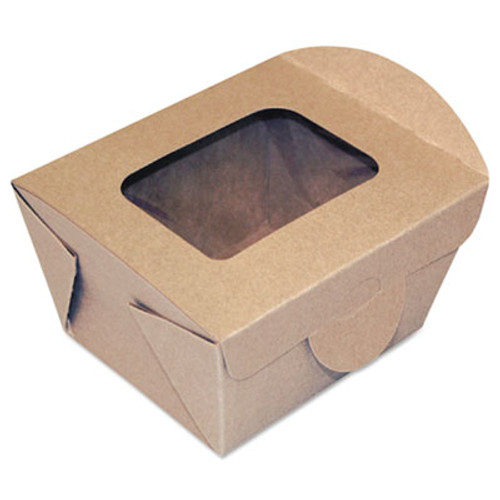 Dixie Windowed Food Container, Kraft, 4 5/16 x 3 5/8 x 3 5/64, 50/Pack, 9 Pack/Carton (DXEFF4X3X3)