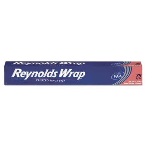 "Reynolds Wrap Standard Aluminum Foil Roll, 12"" x 75 ft, Silver (RFPF28015)"