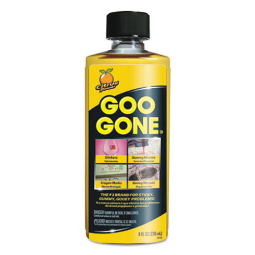 Goo Gone Original Cleaner, Citrus Scent, 8 oz Bottle, 12/Carton (WMN2087)