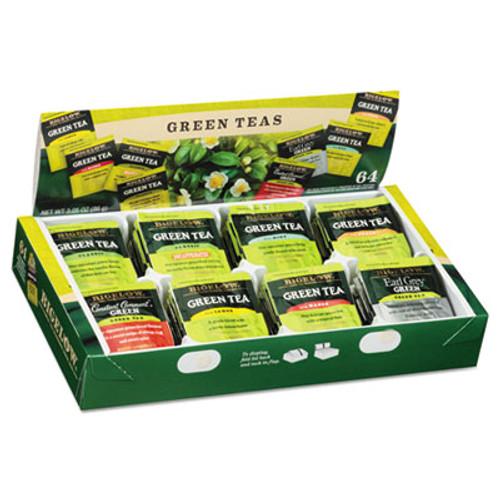 Bigelow Green Tea Assortment, Tea Bags, 64/Box, 6 Boxes/Carton (BTC30568CT)