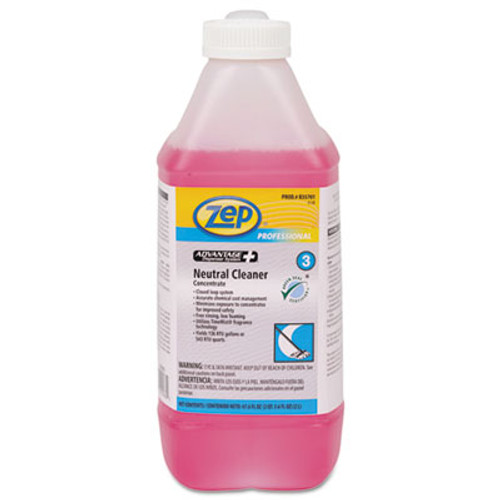 Zep Professional Advantage+ Concentrated Neutral Floor Cleaner, 67.6 oz Bottle (ZPER35701EA)