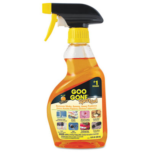 Goo Gone Spray Gel Cleaner, Citrus Scent, 12 oz Spray Bottle (WMN2096EA)