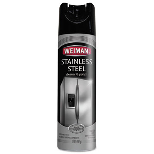 WEIMAN Stainless Steel Cleaner and Polish, 17 oz Aerosol (WMN49)