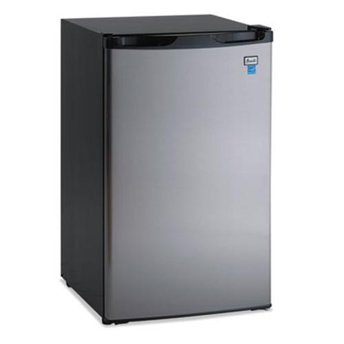 "Avanti 4.4 CF Refrigerator, 19 1/2""W x 22""D x 33""H, Black/Stainless Steel (AVARM4436SS)"