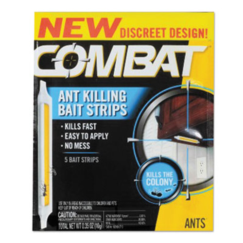 Combat Ant Bait Insecticide Strips, 0.35 oz, 5/Box (DIA01000)