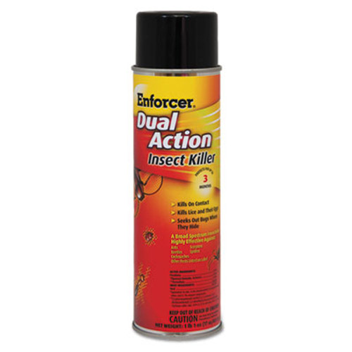 Enforcer Dual Action Insect Killer, For Flying/Crawling Insects, 17 oz Aerosol (AMR1047651EA)