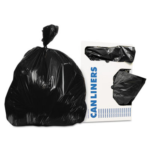 Heritage Low-Density Can Liners, 20-30 gal, 0.9 mil, 30 x 36, Black, 200/Carton (HERH6036TK)