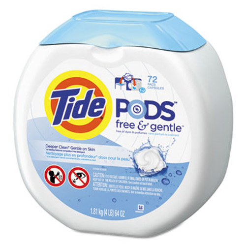 Tide Free & Gentle Laundry Detergent, Pods, 72/Pack (PGC89892EA)