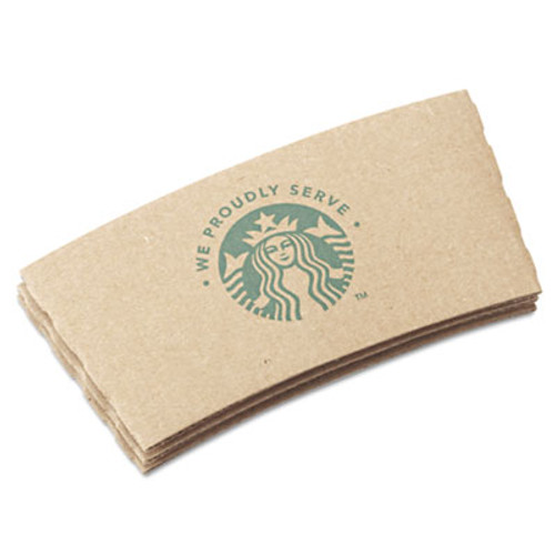 Starbucks Cup Sleeves, For 12/16/20 oz Hot Cups, Kraft, 1380/Carton (SBK11020575)