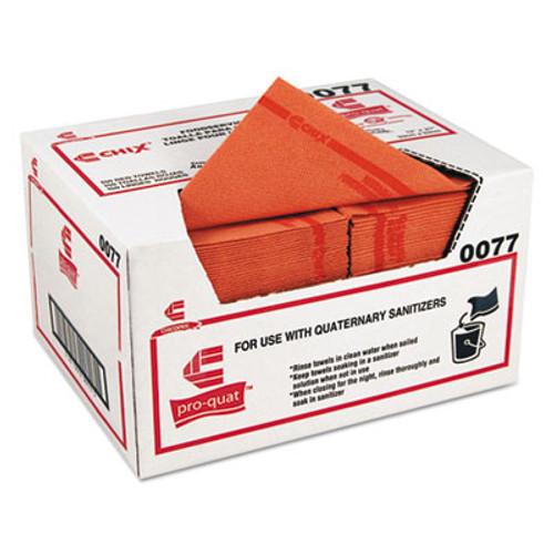 Chix Pro-Quat Food Service Towels, Medium-Heavy Duty, 13 x 21, Red, 150/Carton (CHI0077)