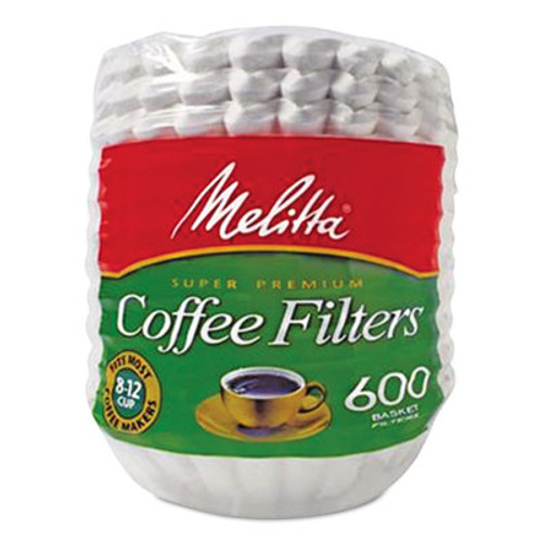 Melitta Coffee Filters, Paper, Basket Style, 8 to 12 Cups, 7200/Carton (MLA631132)
