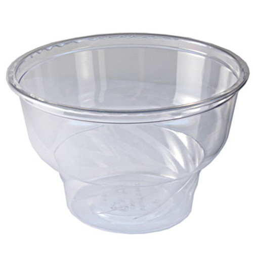 Fabri-Kal Indulge Dessert Containers, 5 oz, Clear, Plastic, 1000/Carton (FABDE5)