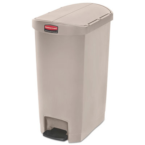 Rubbermaid Slim Jim Resin Step-On Container, End Step Style, 13 gal, Beige (RCP1883459)