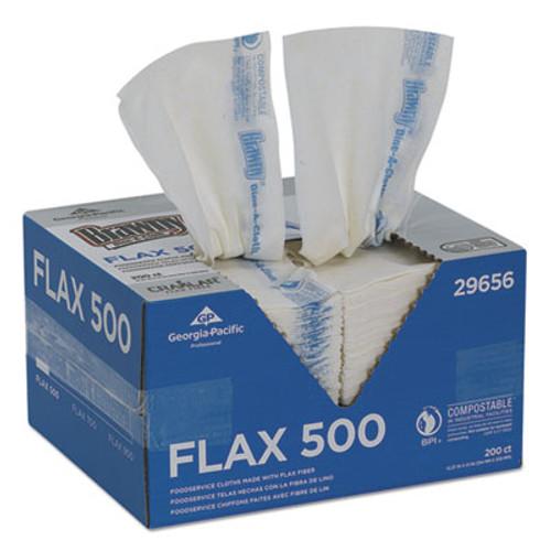Brawny Dine-A-Cloth FLAX Foodservice Wipers, 12.37 x 21, White, 200/Box (GPC29656)