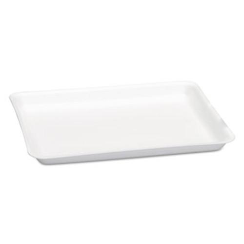 Genpak Supermarket Tray, Foam, White, 9 1/4 x 12.13 x 3/4, 125/Bag, 2 Bag/Carton (GNP9LWH)