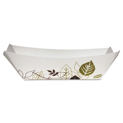 Dixie Kant Leek Paper Tray, 48 oz, Green/Burgundy, 8.38x5.81x2.09, 500/Carton (DXEKL300PATH)