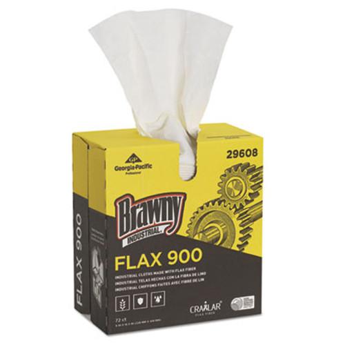 Brawny Industrial FLAX 900 Heavy Duty Cloths, 9 x 16 1/2, White, 72/Box, 10 Box/Carton (GPC29608)