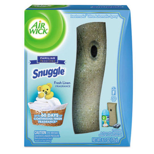 Air Wick Freshmatic Ultra Automatic Starter Kit, Snuggle Fresh Linen, 6.17 oz Aerosol (RAC93554EA)