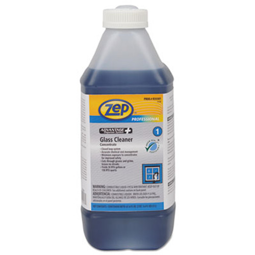 Zep Professional Advantage+ Concentrated Glass Cleaner, 67.6 oz Bottle, 4/Carton (ZPER35501CT)