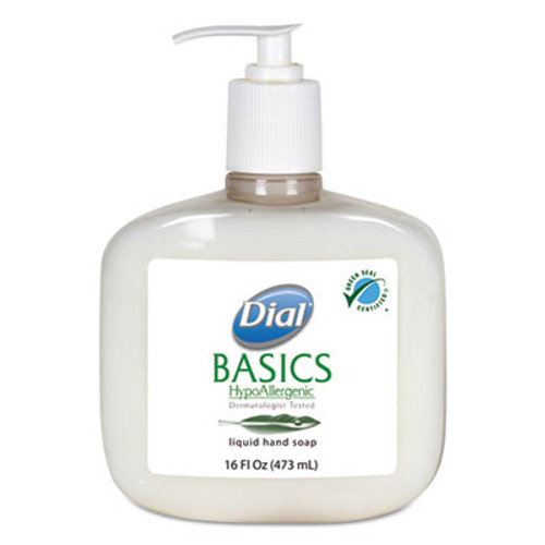 Dial Basics Liquid Hand Soap, Fresh Floral, 16 oz Pump Bottle (DIA06044EA)
