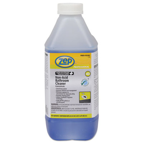 Zep Professional Advantage+ Concentrated Non-Acid Bathroom Cleaner, 67.6 oz Bottle, 4/Carton (ZPER35901CT)