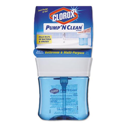 Clorox Pump 'N Clean Bathroom  & Multi-Purpose Cleaner, Rain Clean, 12 oz Pump, 6/CT (CLO31201)