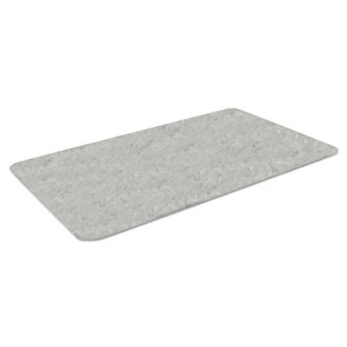 Crown Workers-Delight Slate Standard Anti-Fatigue Mat, 36 x 144, Light Gray (CWNWX1232LG)