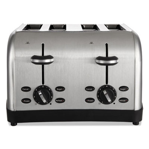 Oster Extra Wide Slot Toaster, 4-Slice, 12 3/4 x 13 x 8 1/2, Stainless Steel (OSRRWF4S)