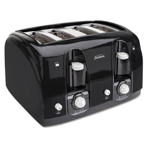 Sunbeam Extra Wide Slot Toaster, 4-Slice, 11 3/4 x 13 3/8 x 8 1/4, Black (SUN39111)