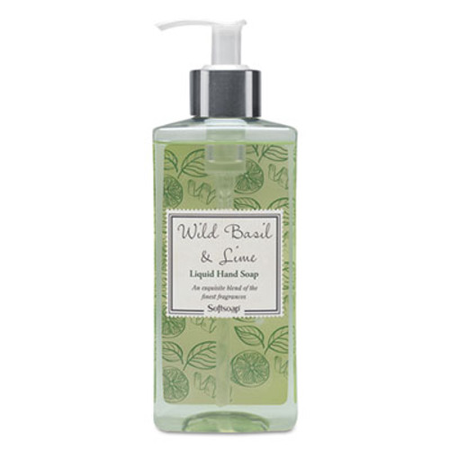Softsoap Elements Liquid Hand Soap, Wild Basil & Lime, 10 oz Pump Bottle (CPC26929EA)