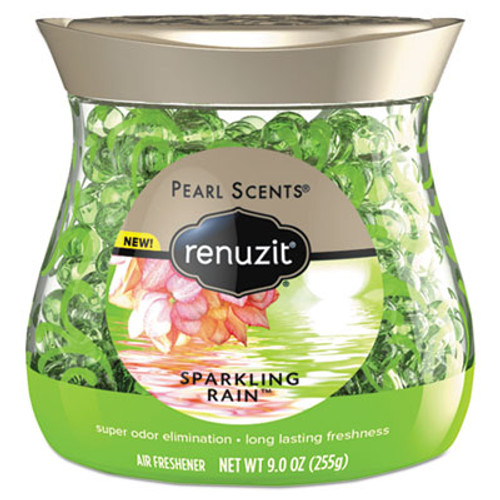 Renuzit Pearl Scents Odor Neutralizer, Sparkling Rain, 9 oz Jar (DIA02221EA)