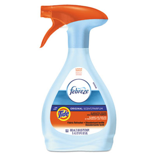 Febreze FABRIC Refresher & Odor Eliminator, Tide Original, 27 oz Spray Bottle, 6/Carton (PGC94614CT)