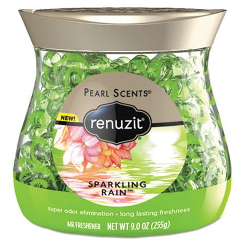Renuzit Pearl Scents Odor Neutralizer, Sparkling Rain, 9 oz Jar, 8/Carton (DIA02222CT)