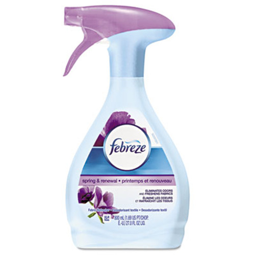 Febreze FABRIC Refresher & Odor Eliminator, Spring/Renewal, 27oz Spray Bottle, 6/Carton (PGC19761CT)