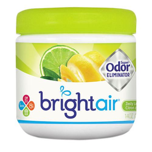 BRIGHT Air Super Odor Eliminator, Zesty Lemon and Lime, 14 oz, 6/Carton (BRI900248)