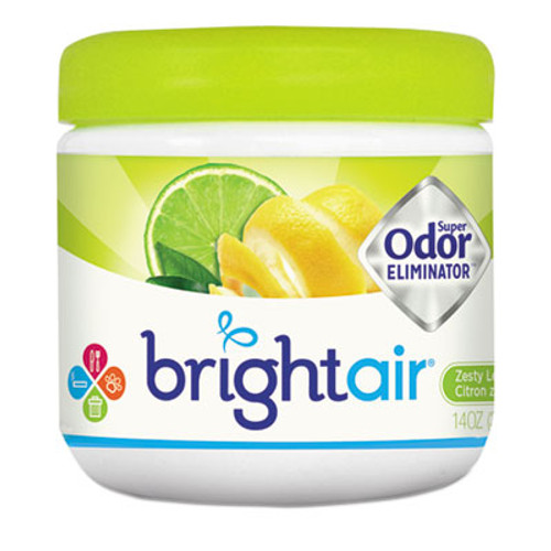 BRIGHT Air Super Odor Eliminator, Zesty Lemon and Lime, 14 oz, 6/Carton (BRI900248)