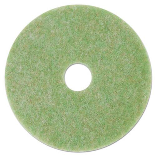 """3M Low-Speed TopLine Autoscrubber Floor Pads 5000, 16"""" Diameter, Green/Orange, 5/CT (MMM18048)"""