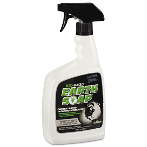 Spray Nine Earth Soap Concentrated Cleaner/Degreaser, 32oz Spray Bottle, 6/Carton (ITW27932)