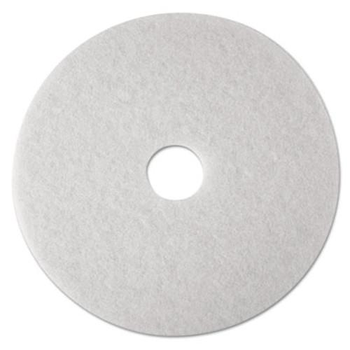"3M Low-Speed Super Polishing Floor Pads 4100, 15"" Diameter, White, 5/Carton (MMM08479)"