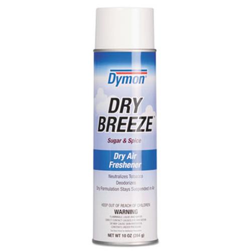 Dymon Dry Breeze Aerosol Air Freshener, Sugar & Spice, 10oz, 12/Carton (ITW70220)