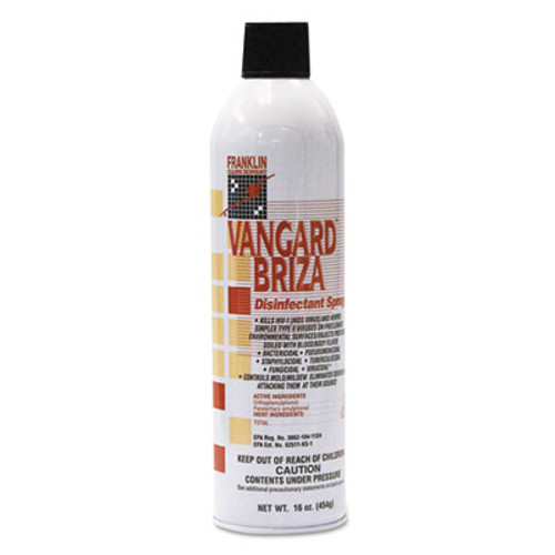 Franklin Cleaning Technology Vangard Briza Surface Disinfectant/Space Spray, Linen Fresh, 16oz Aerosol, 12/CT (FKLF811015)