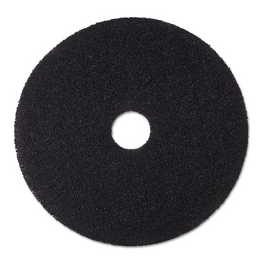 "3M Low-Speed Stripper Floor Pad 7200, 15"" Diameter, Black, 5/Carton (MMM08377)"