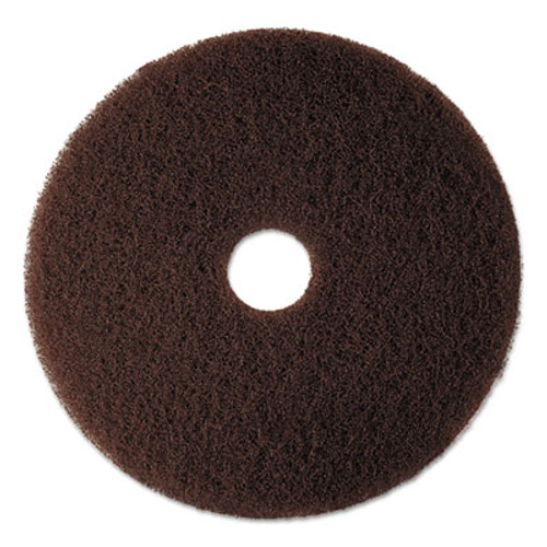 "3M Low-Speed High Productivity Floor Pad 7100, 16"" Diameter, Brown, 5/Carton (MMM08444)"