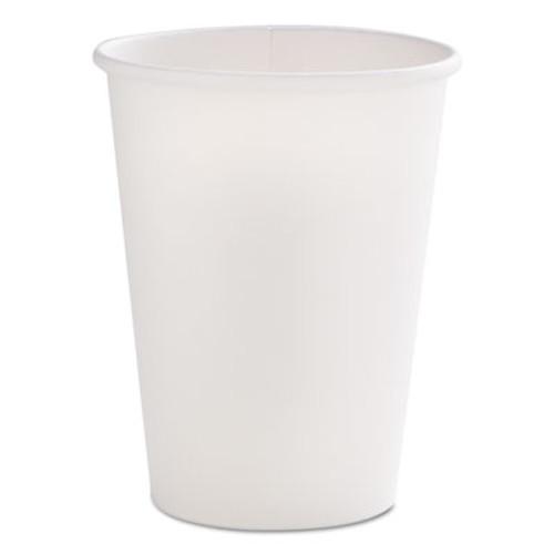 Dopaco Tall Paper Hot Cups, 12oz, White, 50/Bag, 20 Bags/Carton (PCTD12THCW)