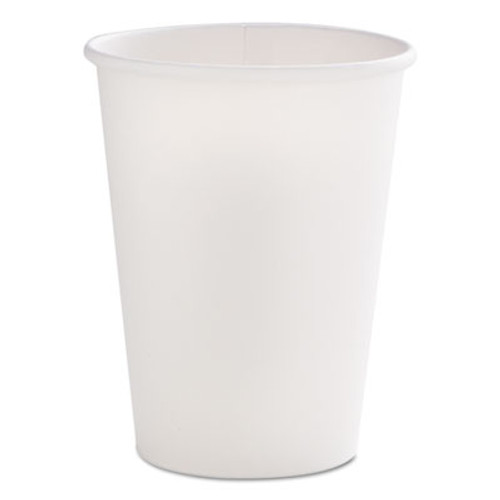 Dopaco Tall Paper Hot Cups, 12oz, White, 50/Bag, 20 Bags/Carton (PCTD12THCW)
