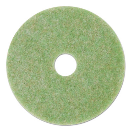 "3M Low-Speed TopLine Autoscrubber Floor Pads 5000, 19"" Diameter, Green/Orange, 5/CT (MMM18051)"