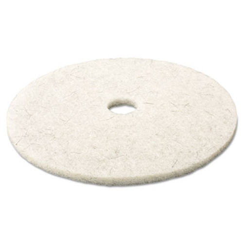 "3M Ultra High-Speed Natural Blend Floor Burnishing Pads 3300, 17"" Dia., White, 5/CT (MMM18207)"