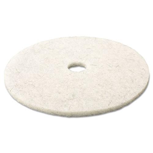 "3M Ultra High-Speed Natural Blend Floor Burnishing Pads 3300, 17"" Dia., White, 5/CT (MMM18207)"