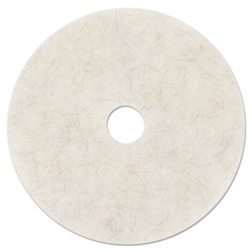 3M Ultra High-Speed Natural Blend Floor Burnishing Pads 3300, 24in, White, 5/CT (MMM18213)